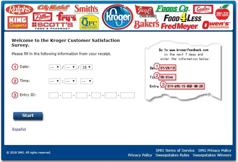 Kroger Feedback Fuel Points Survey