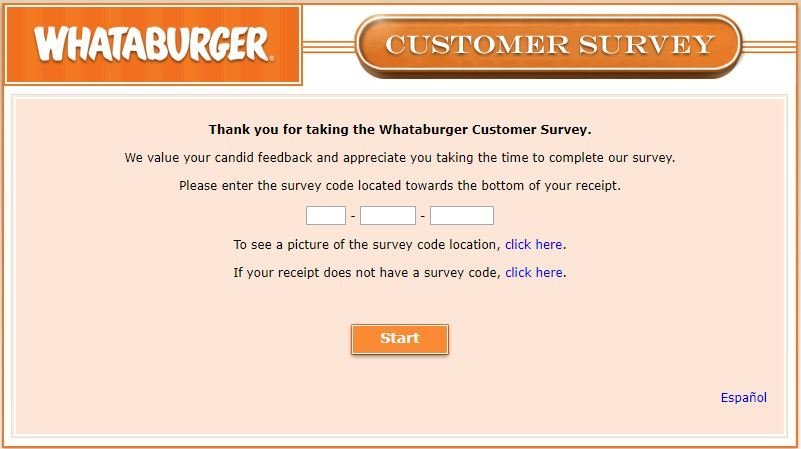 Take Part In Whataburger Customer Survey