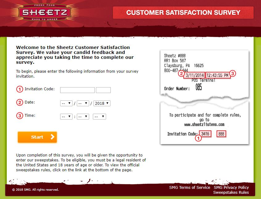 Sheetz Listens Customer Survey