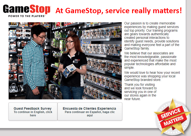GameStop-Customer-Survey
