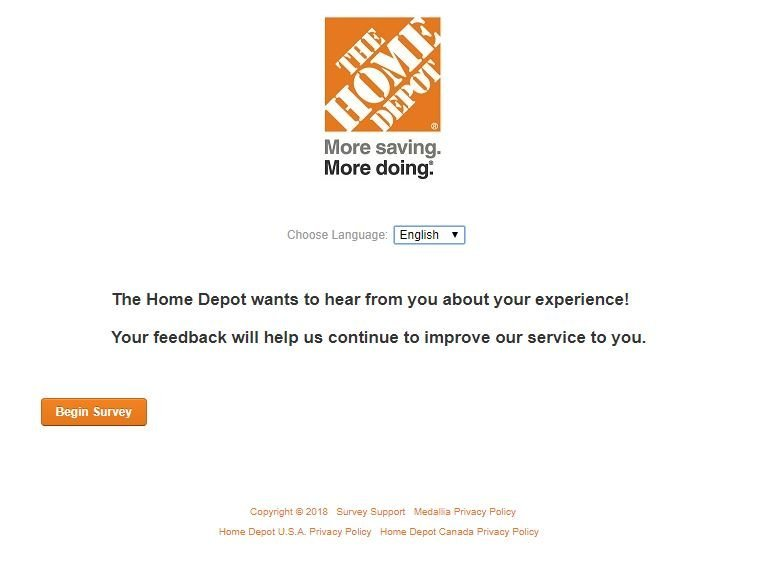 The Home Depot Survey