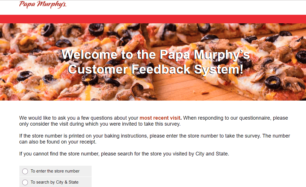 Papa Murphy's Customer Survey