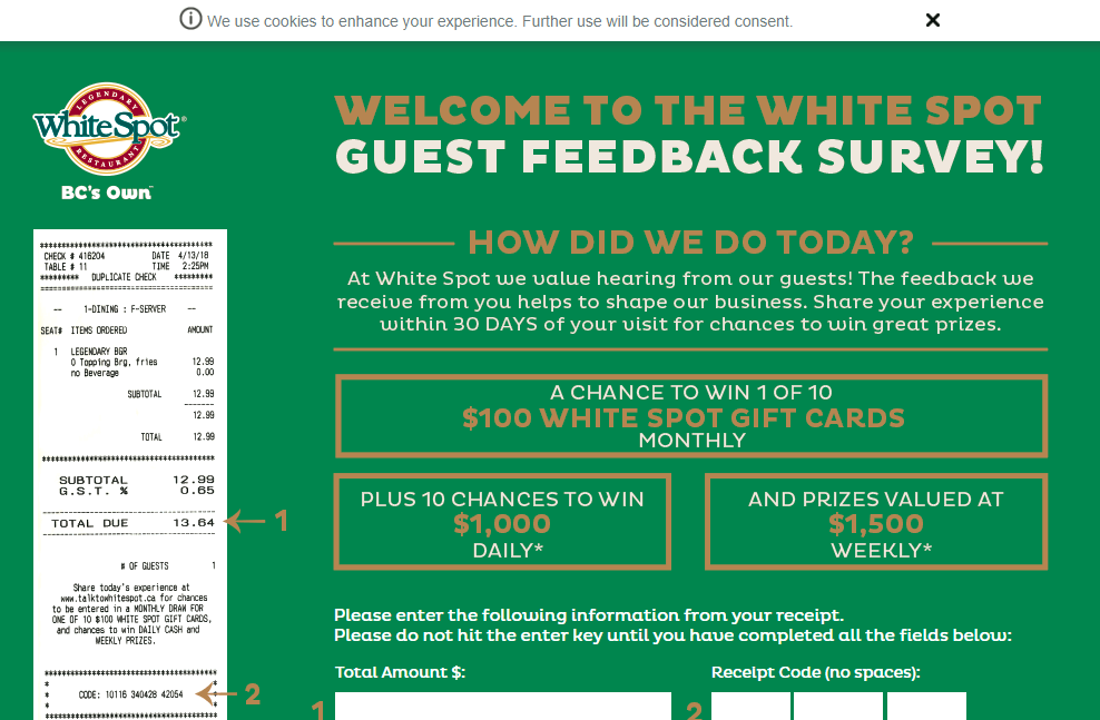 Talktowhitespot.ca - White Spot survey